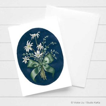 Flannel Flower Card