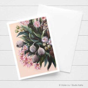Australian Gumnut Botanical card