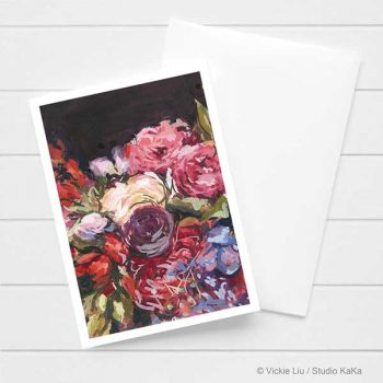Winter Floral Wedding Card