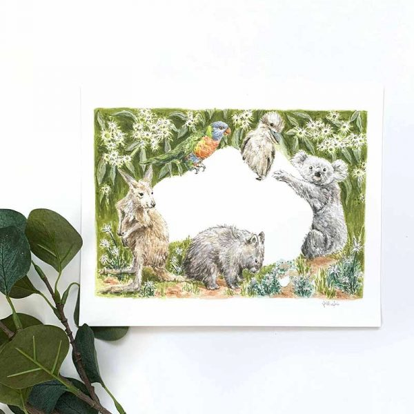 australian wildlife art print