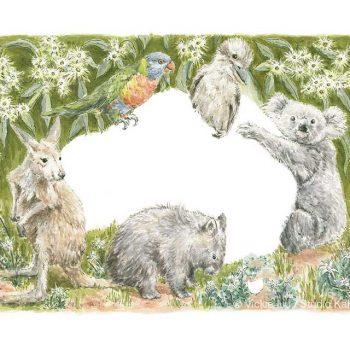 australian animal map