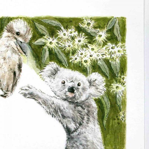 koala art print detail