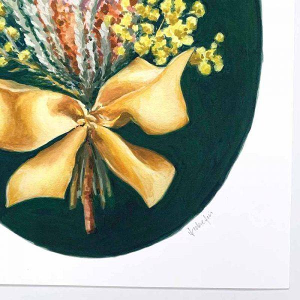 australian floral print detail