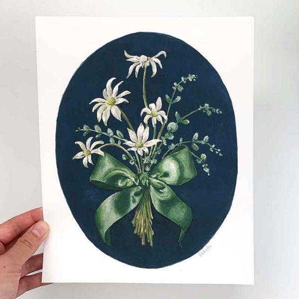 flannel flower print