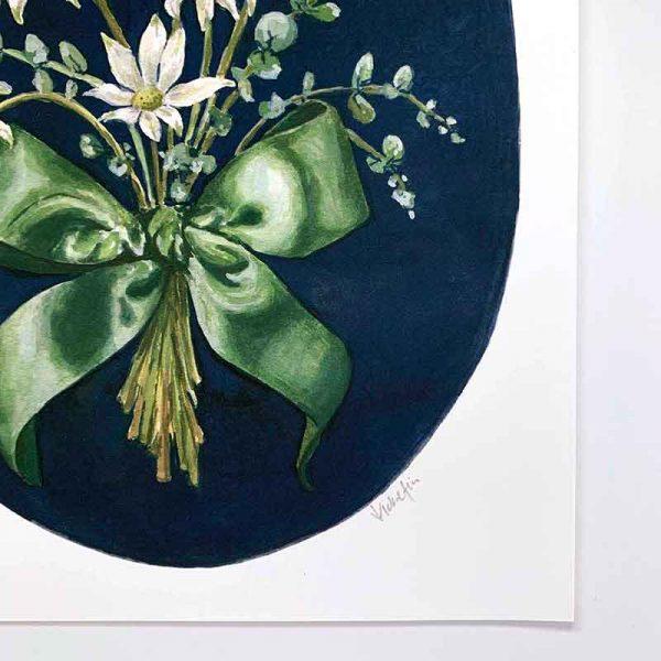 flannel flower print detail