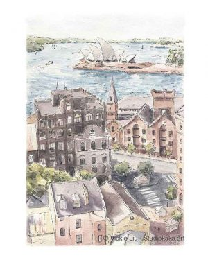 Sydney Opera House and The Rocks Print