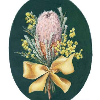 banksia flower painting