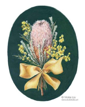 banksia flower print