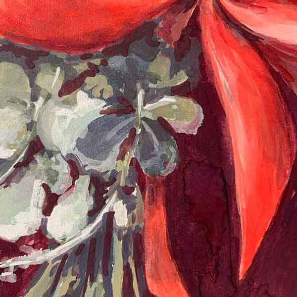 australian native flower painting detail