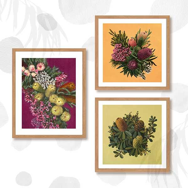 Australian floral art print