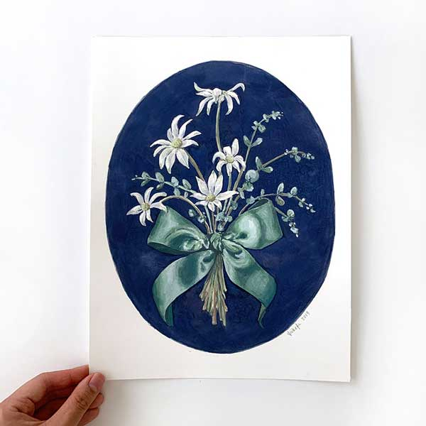 flannel flower painting