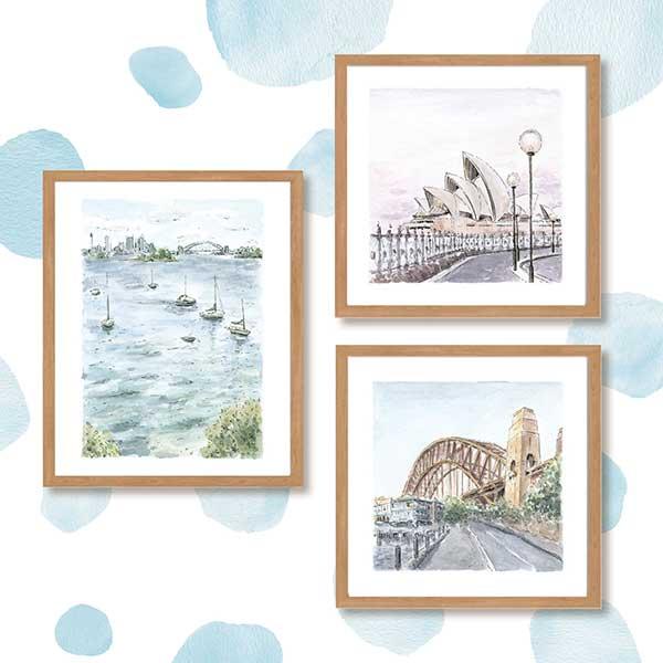 Sydney Landscape watercolour art