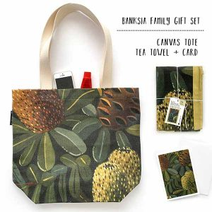banksia tote and tea towel gift set