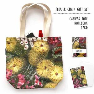 bottlebrush botanical tote gift set