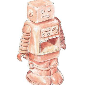 robot original painting