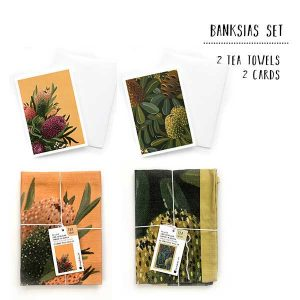 banksias tea towel set