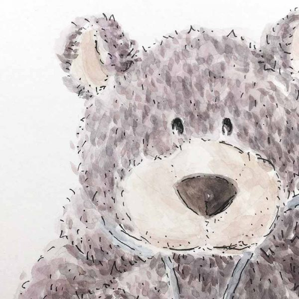 grey bear art detail