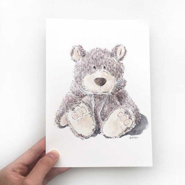 grey bear illustration
