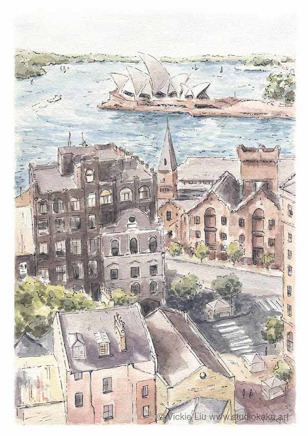 the rocks sydney painting