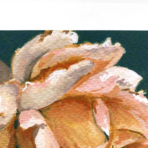 Amber botanical art print detail