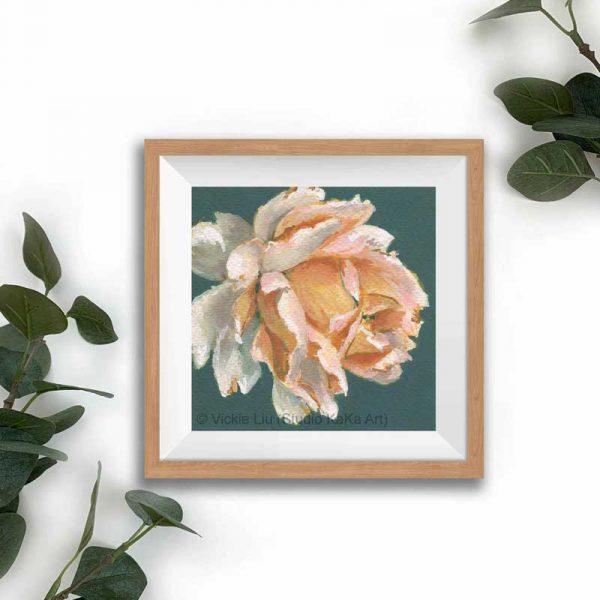 Amber floral print frame mockup