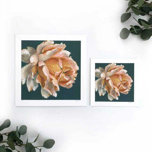 Amber Flower Art Print Sizes