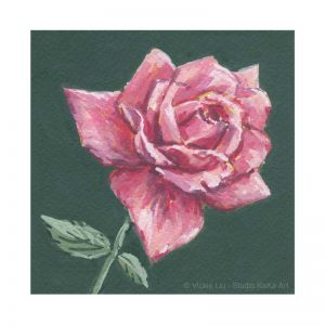 Dark Pink Rose Print No.1