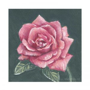 Dark Pink Rose Print No.2