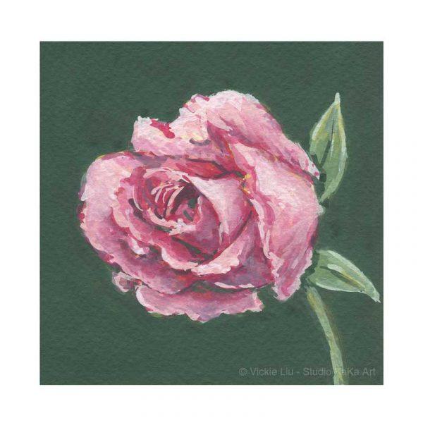 Dark Pink Rose Print No.3