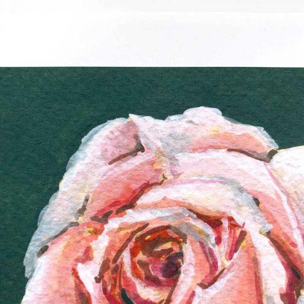 light pink botanical print detail