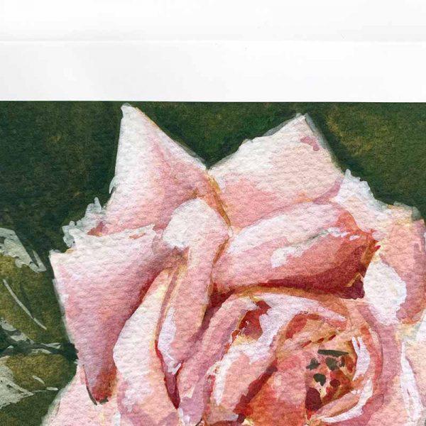 Light Pink Botanical Print Close up