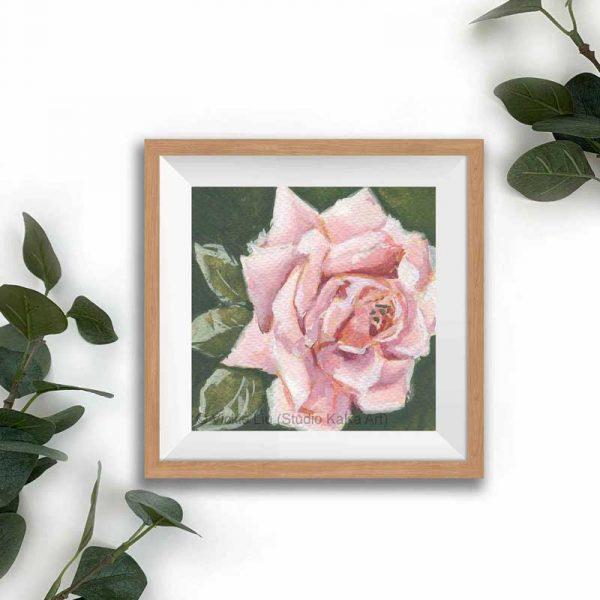 light pink floral print frame