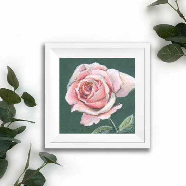 light pink floral print frame