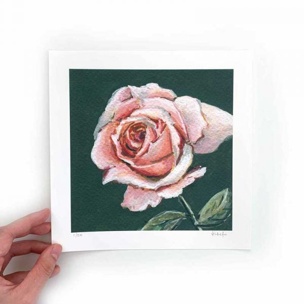 light pink flower art print