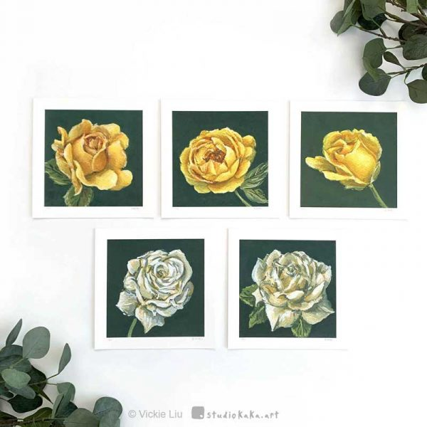 limited edition print yellow roses
