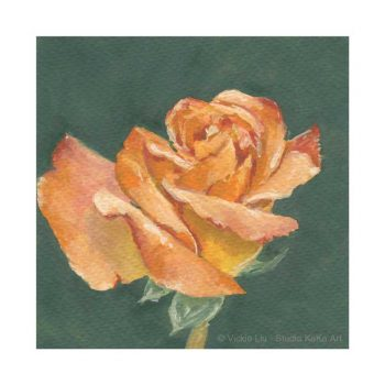 Orange Rose Print No.1