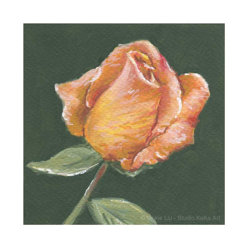 Orange Rose Print No.2
