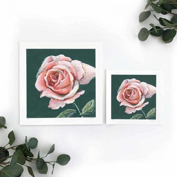 Pale Pink Floral Art Print Sizes