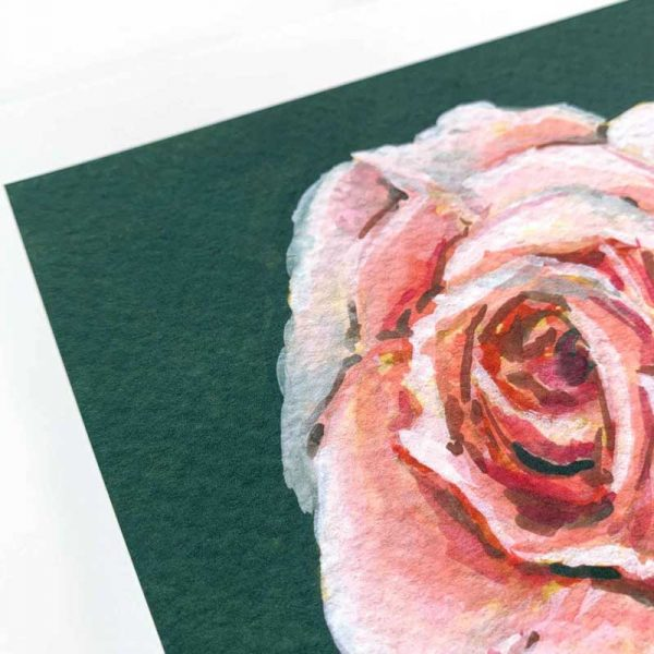 pale pink rose giclee print detail