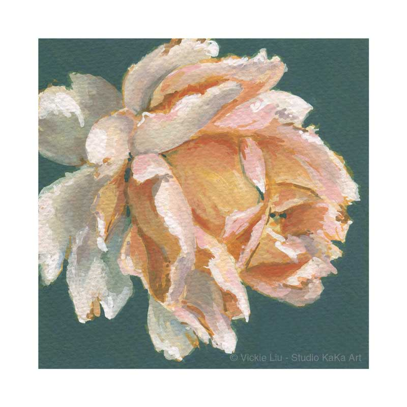 Peach Rose Print No.2