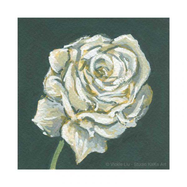 White Rose Print No.1