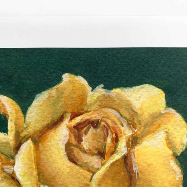 yellow botanical art print close up
