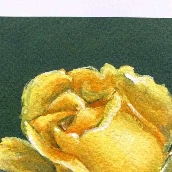 yellow botanical art print close up