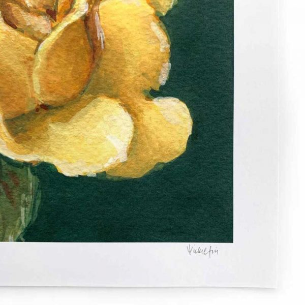 yellow rose giclee art print