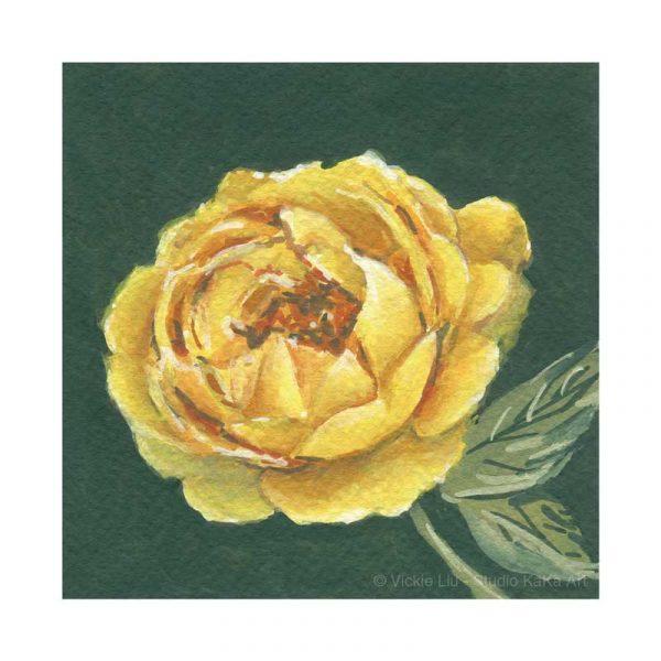 Yellow Rose Print No.2