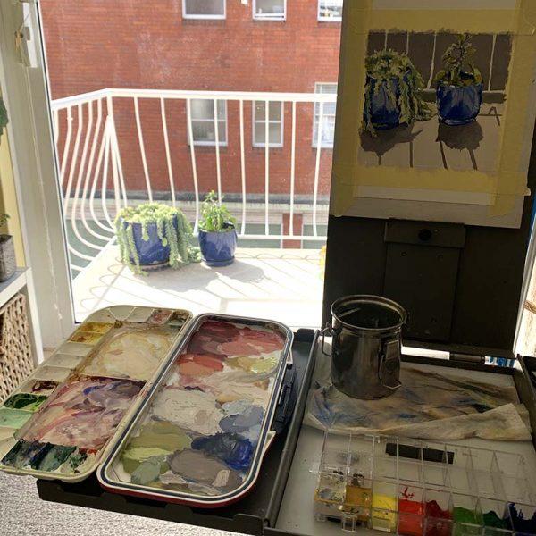 Balcony-Garden-Painting studio