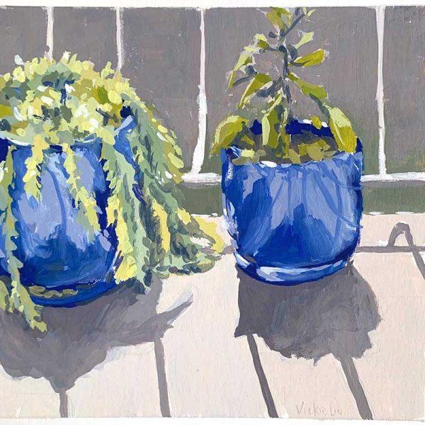 balcony garden plant painting