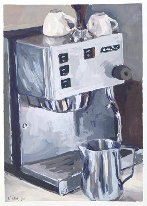 coffee machine original art
