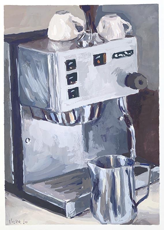 coffee machine original art