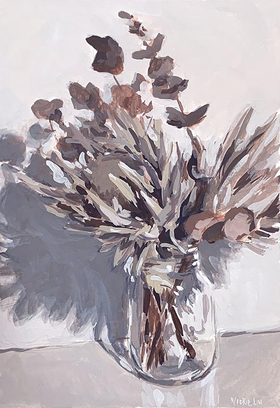dried Australian natives still life painting